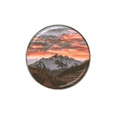 Scenic View Of Snow Capped Mountain Hat Clip Ball Marker (10 Pack)