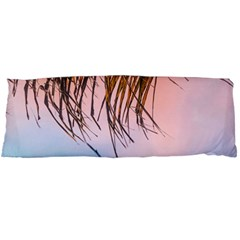 Two Green Palm Leaves On Low Angle Photo Body Pillow Case Dakimakura (two Sides) by Pakrebo