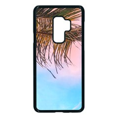 Two Green Palm Leaves On Low Angle Photo Samsung Galaxy S9 Plus Seamless Case(black)