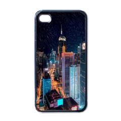 High Rise Buildings With Lights Iphone 4 Case (black)