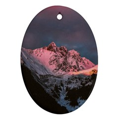 Snowy Summit Ornament (oval)