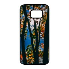 Silhouette Of Trees Samsung Galaxy S7 Edge Black Seamless Case