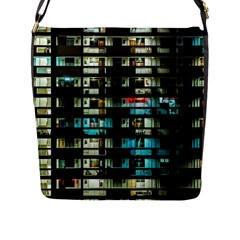 Architectural Design Architecture Building Cityscape Flap Closure Messenger Bag (l)