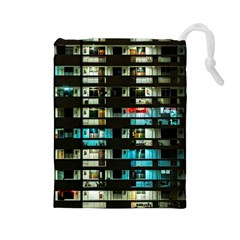 Architectural Design Architecture Building Cityscape Drawstring Pouch (large)