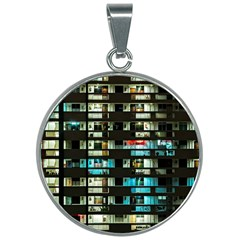 Architectural Design Architecture Building Cityscape 30mm Round Necklace