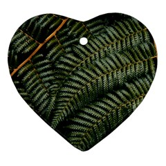 Green Leaves Photo Ornament (heart)