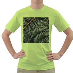 Green Leaves Photo Green T Shirt
