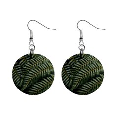 Green Leaves Photo Mini Button Earrings