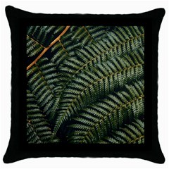 Green Leaves Photo Throw Pillow Case (black)
