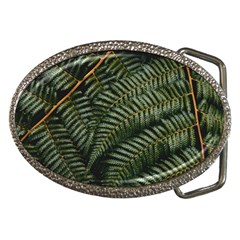 Green Leaves Photo Belt Buckles