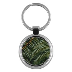 Green Leaves Photo Key Chain (round)