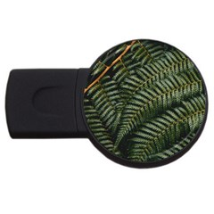 Green Leaves Photo Usb Flash Drive Round (4 Gb)