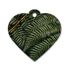 Green Leaves Photo Dog Tag Heart (one Side)