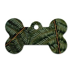 Green Leaves Photo Dog Tag Bone (two Sides)