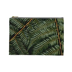 Green Leaves Photo Cosmetic Bag (large)