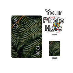 Green Leaves Photo Playing Cards 54 Designs (mini)