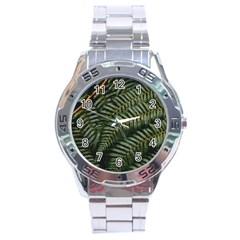 Green Leaves Photo Stainless Steel Analogue Watch