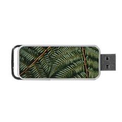 Green Leaves Photo Portable Usb Flash (two Sides)
