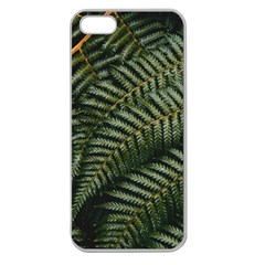 Green Leaves Photo Apple Seamless Iphone 5 Case (clear)