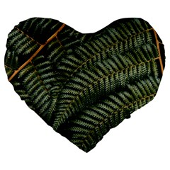Green Leaves Photo Large 19  Premium Heart Shape Cushions