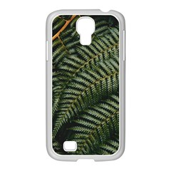 Green Leaves Photo Samsung Galaxy S4 I9500/ I9505 Case (white)