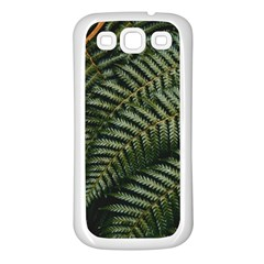 Green Leaves Photo Samsung Galaxy S3 Back Case (white)