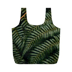 Green Leaves Photo Full Print Recycle Bag (m)