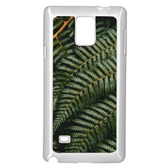 Green Leaves Photo Samsung Galaxy Note 4 Case (white)