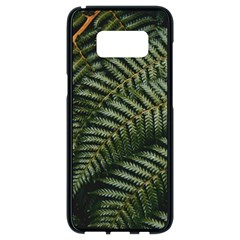 Green Leaves Photo Samsung Galaxy S8 Black Seamless Case