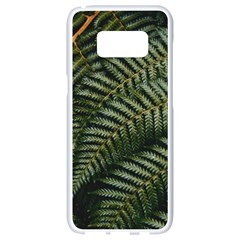 Green Leaves Photo Samsung Galaxy S8 White Seamless Case