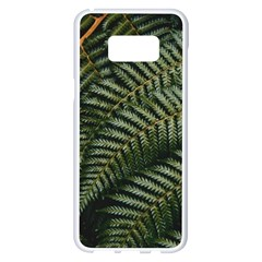 Green Leaves Photo Samsung Galaxy S8 Plus White Seamless Case