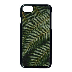 Green Leaves Photo Iphone 8 Seamless Case (black)
