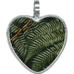 Green Leaves Photo Heart Necklace