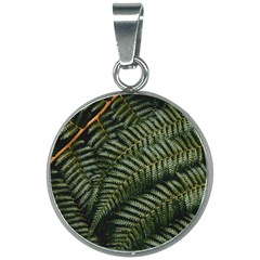 Green Leaves Photo 20mm Round Necklace
