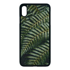 Green Leaves Photo Iphone Xs Max Seamless Case (black)
