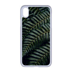 Green Leaves Photo Iphone Xr Seamless Case (white)