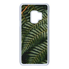 Green Leaves Photo Samsung Galaxy S9 Seamless Case(white)