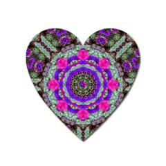 Floral To Be Happy Of In Soul Heart Magnet by pepitasart