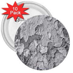Nature Texture Print 3  Buttons (10 Pack)