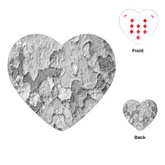 Nature Texture Print Playing Cards Single Design (heart)