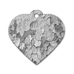 Nature Texture Print Dog Tag Heart (one Side)