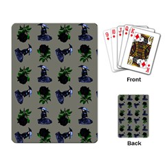 Gothic Girl Rose Grey Pattern Playing Cards Single Design (rectangle)