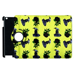 Gothic Girl Rose Yellow Pattern Apple Ipad 3/4 Flip 360 Case