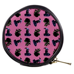 Gothic Girl Rose Light Pink Pattern Mini Makeup Bag