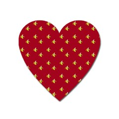 Peeled Banana On Red Heart Magnet by snowwhitegirl