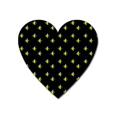 Peeled Banana On Black Heart Magnet by snowwhitegirl