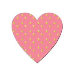 Peeled Banana On Pink Heart Magnet by snowwhitegirl
