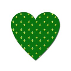 Peeled Banana On Green Heart Magnet by snowwhitegirl
