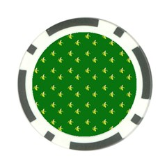 Peeled Banana On Green Poker Chip Card Guard