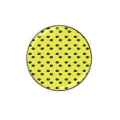 Yellow Eyes Hat Clip Ball Marker (4 Pack) by snowwhitegirl